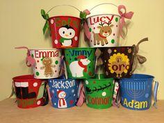 Christmas Hanukkah bucket Personalized metal gift by DeLaDesign, $23.00
