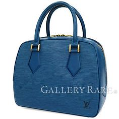 Authentic-Louis-Vuitton-Epi-Sablon-Hand-Bag-M52045-France-Toledo-Blue-GR-1755732