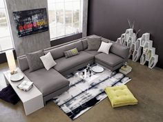 cielo II shadow 4-piece sectional sofa  | CB2 look at link, other lr setup pic. something like this might work very nicely, functionally for us.