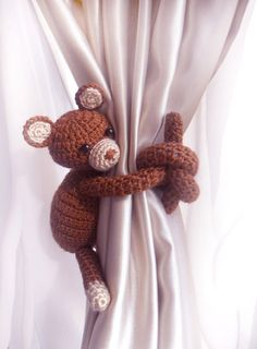 Teddy Bear Curtain Tie Back1pcsCurtain Tie by LamoreBoutique