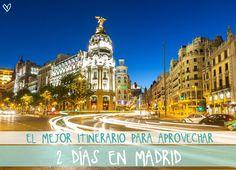 El mejor itinerario para aprovechar 2 días en #Madrid Madrid Tours, Madrid Travel, Best Hotels In Madrid, Places To Travel, Places To See, Visit Madrid, Madrid Barcelona, Best Resorts, Spain And Portugal