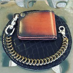 Just saying this Mini Bifold #chainwallet & Box #walletchain (Black & Brass) is ready to ship to a new home!  Message Anvil for quick-sell price or shop anvilcustoms.com