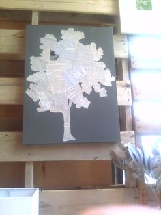 """Inside-Out Design: West Elm wall art- copied! (it would be cool to color-wash the """"leaves"""" in green and the """"trunk"""" in brown."""