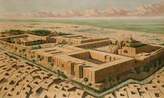 Reconstruction of the Sumerian city of Ur