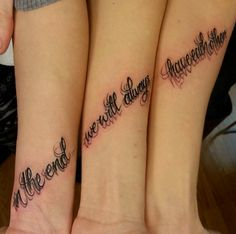 Connecting Quote Sister Tattoo by Faelan Wilson