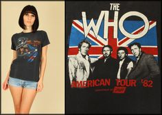 ViNtAgE 80's THE WHO America Tour 82' Tour by hellhoundvintage, $148.00
