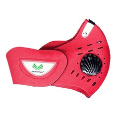 Buy Breathe Sportive Mask online best price BM002 at SafetyKart. Red color mask is washable & it filters dust, mist, fumes, allergens and other pollutants.