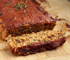 "'The best Lentil ""Meat"" Loaf you will ever have. (gluten-free + vegan)'"