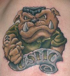 Long Time Coming. Military Tattoos, Usmc Tattoos, Tattoos For Guys, Cool Tattoos, Mens Tattoos, Awesome Tattoos, Tatoos, Marine Corps Tattoos, Bulldog Tattoo