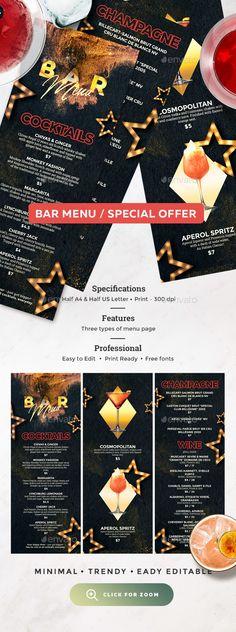 Vegetarian Restaurant Menu Pinterest Menu, Menu templates and - bar menu template