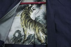 羽織 Haori - Veste japonaise - Tigre et Pins - Made in Japan 1392 XL