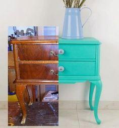 Decoración Vintage y Eco Chic Funky Furniture, Paint Furniture, Repurposed Furniture, Furniture Making, Furniture Makeover, Home Furniture, Creation Deco, Repurposed Items, Diy Home Decor