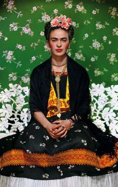 A gorgeous photo of Frida by Nikolas Muray. Frida's art and style is a huge source of inspiration for me.
