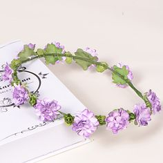 Lavender Paper/Plastic Wreaths With Wedding/Party Headpiece – USD $ 3.99