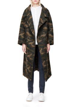 Weekday  - Magoo coat in Khaki Green