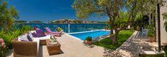 Adorable Beachfront Villa with Pool and Beautiful Garden with Barbecue near Rogoznica - villascroatia.net