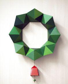 diy origami wreath