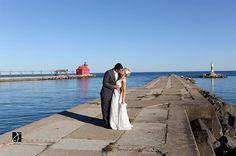 Door County Fall Wedding. Coast Guard Station Lighthouse. © 2013 Jason Mann Photography   www.jmannphoto.com