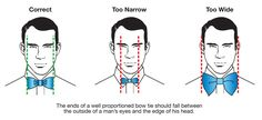 bow tie width-size-guide