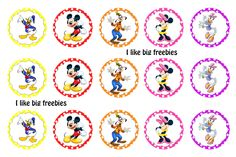 I like big freebies: Mickey's Clubhouse bottlecap images