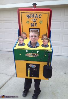 homemade kids costumes made from a box | Whac-a-Me - Homemade costumes for boys