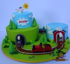thomas the train cake Thomas Train Birthday Cake, 4th Birthday Cakes, Trains Birthday Party, Thomas Cakes, Thomas The Train Cakes, Thomas And Friends Cake, Novelty Cakes, Cakes For Boys, Cake Creations