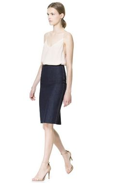 DENIM PENCIL SKIRT - Skirts - Woman | ZARA United States
