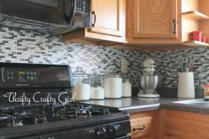 Rental Rehab: 13 Removable DIY Kitchen Backsplashes: Removable Peel and Stick Backsplash Tiles