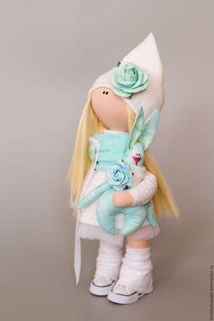 Куклы тыквоголовки ручной работы. Ярмарка Мастеров - ручная работа. Купить Кукла текстильная. Handmade. Бирюзовый, кукла интерьерная, фатин