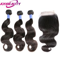 3 Bundles Malaysian Body Wave With 13x4 Pre Plucked Lace Frontal With Baby Hair With 100% Human Hair Non Remy Ali Sky Black 1b Products Are Sold Without Limitations Human Hair Weaves
