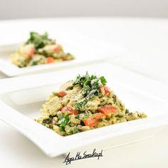 szybkie i zdrowe dania jednogarnkowe bez glutenu risotto z cukinią Tempeh, Tofu, Aga, Risotto, Fried Rice, Pasta Salad, Fries, Healthy Recipes, Healthy Food