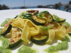Brzi rezanci s tikvicama /  Quick pasta with zucchini