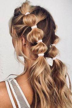 Trending Hairstyles, Pretty Hairstyles, Hairstyle Ideas, No Heat Hairstyles, Hairstyles For Beach, Short Summer Hairstyles, Easy Teen Hairstyles, Hairstyles With Braids, Simple Hairstyles For Long Hair