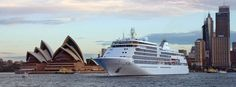 Silver Shadow Cruise Ship in Australia Silversea's South Pacific cruises sweep across two hemispheres, two continents and a breathtaking succession of dazzling sights.