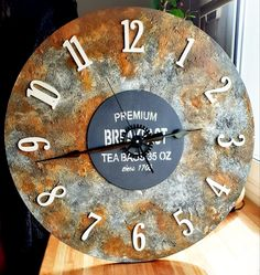 Rustic Office Decor, Artist Aesthetic, Hostel, Clocks, Mixed Media, Wood, Crafts, Home Decor, Picture Clock
