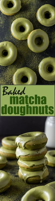 matcha doughnuts, for pinterest, final