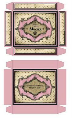 DIY small boxes for candy, party favors, etc..casa de bonecas da eloisa: printables