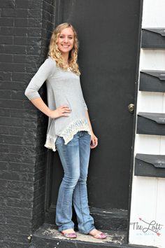 Julia is beautiful in this soft & flowing gray top finished with lace...  #‎ishoptheloft‬ ‪#‎fashion‬ ‪#‎nowtrending‬ ‪#‎style‬ ‪#‎ootd‬ ‪#‎mystyle‬ ‪#‎boutiquelove‬ ‪#‎trendy‬ ‪#‎shopsmall‬ ‪#‎follow‬