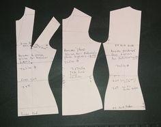 Como trazar básico de blusa con reducción para telas elásticas. Parte 1
