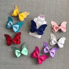 Excited to share this item from my shop: Glitter Butterflies! Excited to share this item from my shop: Glitter Butterflies! Handmade Hair Bows, Diy Hair Bows, Diy Bow, Bow Hair Clips, Bow Clip, Felt Bows, Ribbon Bows, Ribbon Flower, Ribbon Hair
