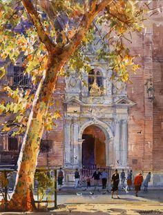 Geoffrey Wynne Acuarelas - Watercolours: Granada - Grenade