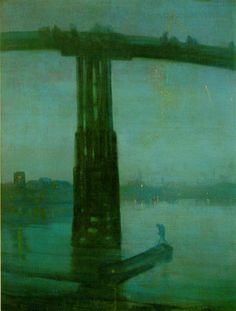 James Abbott McNeill Whistler - Nocturne in Blue and Gold: Old Battersea Bridge