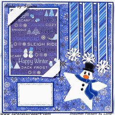 Snowman Holiday Scrapbook Layout Winter Pages on Etsy, $20.00