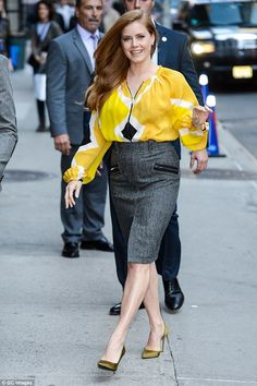 Ready to promote: Amy Adams was spotted on Thursday heading to the Ed Sullivan Theatre in ...