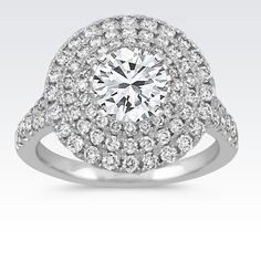 Swooning over this triple-halo engagement ring! #ShaneCo #ShaneCoSparkle