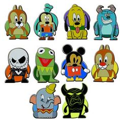 Your WDW Store - Disney Mystery Pin Set - Vinylmation Popcorns - Complete 12 Pin Set