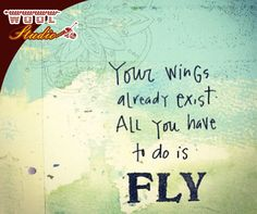 Your wings already exist. All you have to do is fly. #WoolStudio #SundayMotivation