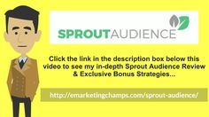 (Sprout Audience Review) See honest review of SproutAudience, learn how it works…