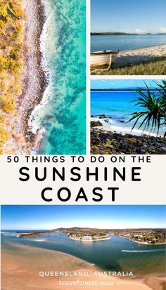 50 things to do on the Sunshine Coast Sunshine Coast (Queensland, Australia). This popular beach destination has lots of attractions such as whale watching, scuba diving and fishing. Australia Beach, Coast Australia, Visit Australia, Queensland Australia, Victoria Australia, South Australia, Western Australia, Perth, Brisbane