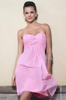 ruched criss cross bodice.  Available floor length as style 892L